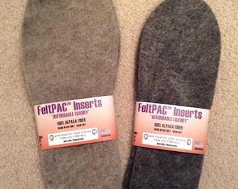 FeltPac Felted Alpaca Shoe Inserts