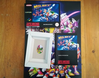 "Complete package ""MEGAMAN X 2"" SNES - french"