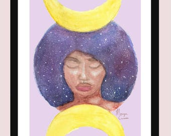 "Moon Goddess 5""x7"" Fine Art Print"