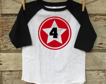SUPERHERO birthday shirt, captain america, four, fourth birthday, 4