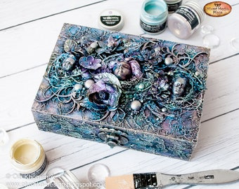 Gothic style box - Home decor - Treasures box - Jewelry box - Gift for her - Fantasy gift - Storage decorative box - Fairytale-gift