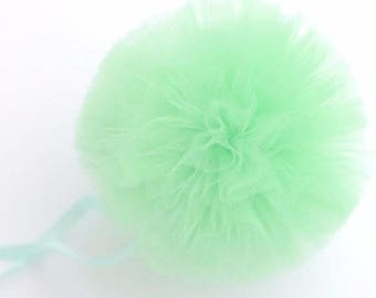 Tulle Pom Pom Decorations,pom pom decoration,wedding decoration,party decoration