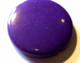 5 purple 25pcs opaque 21mm AP309 purple beads