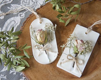 Scented Home Decor With Dried Flowers - Scented Soy Wax Sachet - Valentines Gift - Chic Decor - Air Freshener - Wedding Favour