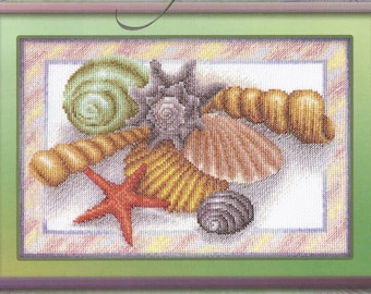 Cross Stitch Kit Seashells