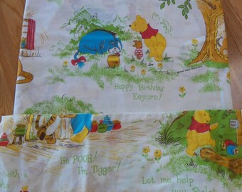 Vintage Sears WINNIE THE POOH Twin Flat/Fitted Sheet Bedding