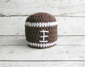 Baby Football Hat, Newborn Football Hat, Crochet Football Hat, Baby Football Hat, Newborn Girls or Newborn Boys Football Hat