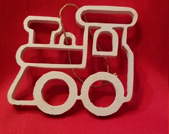 Christmas Ornament, Scroll Saw, Christmas, Train Ornament, Train