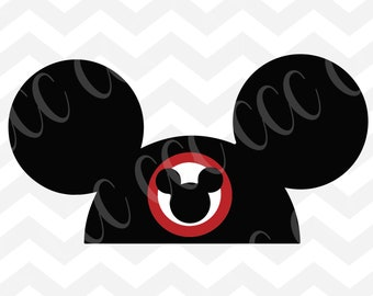 Mickey Mouse Ear Hat SVG Cutting File
