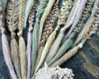 Dreadlocks, Dreads, Synthetic Dreadlocks, Dreadlock Extensions, Muted Mermaid Pastel Collection, Bohemian Crochet