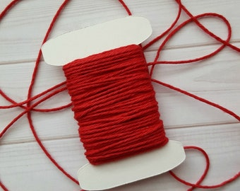10 Yards Solid Maraschino Baker's Twine, Solid Red Twine, The Twinery Baker's Twine, 100% Cotton