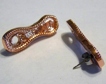 Concho Earring Adapters Shiny Copper