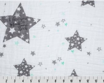 To the Moon Gauze swaddle fabric
