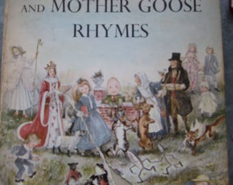 Vintage 1954 Book Marguerite de Angeli's Book of Nursery and Mother Goose Rhymes