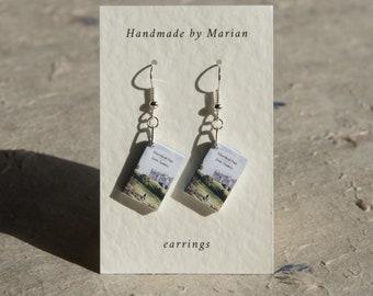 Mansfield Park book earrings Jane Austen