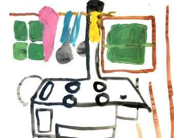 Postcard: Cabin Painting 1