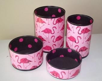 Black and Pink Flamingo Desk Accessories - Pencil Holder - Pencil Cup - Desk Organization - Office Decor - Dorm Decor - 1155