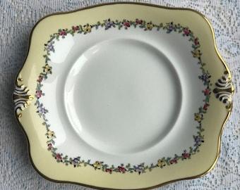 Tuscan Heather Cake Plate