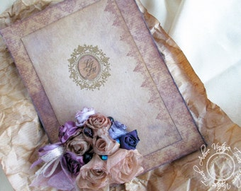 Wedding Invitation Suit Love&Recycle!; Recycled Invitation, Shabby Invitation, Distressed Invite, Invitation, Old Invite, Vintage Wedding