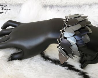"""""""Draconis"""" scale chain mail bracelet"""
