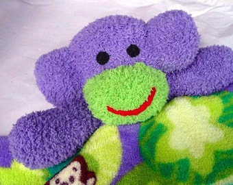 Reserved for  Susan Fitch     minkey security blanket Lovey sock monkey