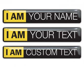 10pcs Im Nikon with Your Text Custom text domed stickers
