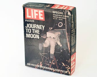 1969 Life Journey to the Moon Puzzle Vintage Retro