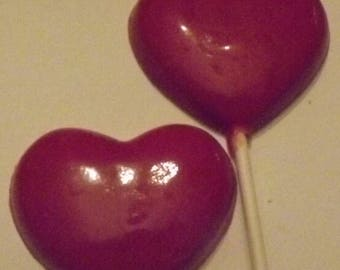 Heart Lollipops Chocolate Candy