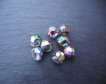 Facets of Bohemia 8 mm: 15 beads crystal vitrail medium