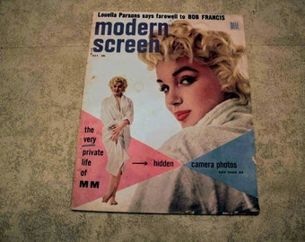 1955 Modern Screen Magazine The Very Private Life of Marilyn Monroe