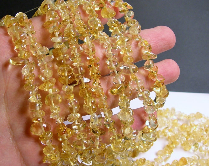 Citrine - pebble chip stone beads  -1 full strand - 36 inch - A quality - PSC181