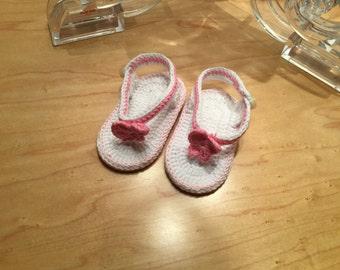 Baby girl flip flops