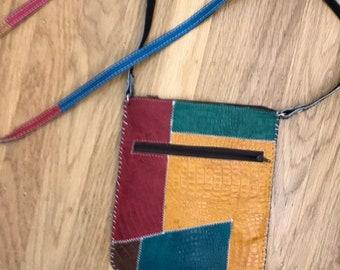 Hard leather crossbody