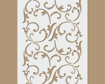 Floral elements Stencil