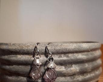 Amythest Drop Earrings