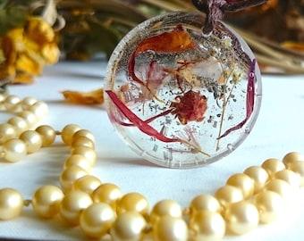 "SALE ON - Flower fairy garden handmade pendants "" The Little Things """