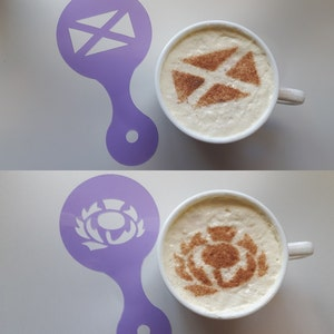 St andrews day etsy scottish cross thistle coffee cup stencils reusable many times gift fundraising cafe pub cappuccino burns malvernweather Choice Image