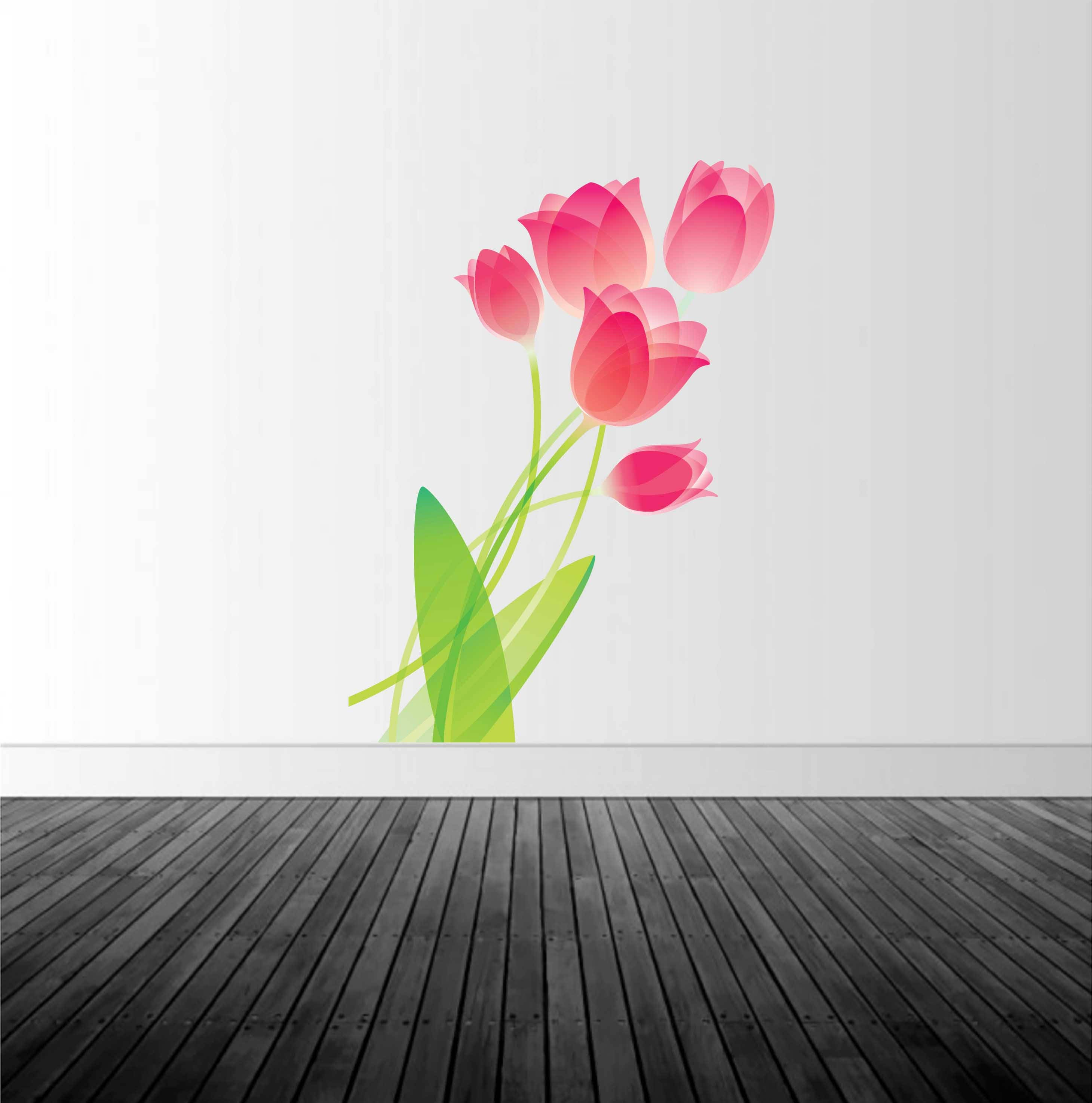 gallery photo gallery photo gallery photo & Tulip Wall Decal Floral Wall Decal Flower Decal Vinyl Wall Decal ...