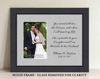 Parents Wedding Gift, Parents of the Bride, Father In Law Gift, Mother In Law Gift, Thank You Gift, Personalized Picture Frame