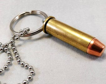 38 Special Bullet Necklace Key Chain