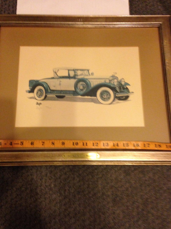 Richard Blazich signed limited Edition art 1930 Cadillac