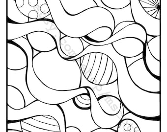 Coloring Page (Ornaments and Ribbons 3)