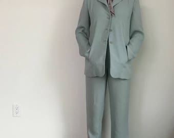 Green Fitted Pantsuit