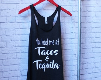 Tacos and Tequila gym shirt - Tacos and Tequila Tee - Gym Shirt - Gym Tank - Funny Saying Shirt  by Pocketbrand