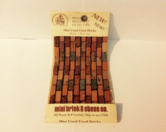 Dollhouse Miniature Patio Bricks
