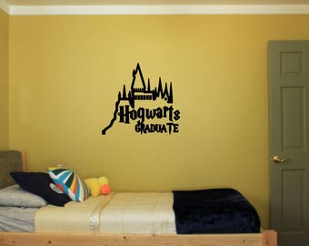 Harry Potter - Hogwarts Graduate - Vinyl Decal Sticker - Attach to Any Smooth Surface - Cars, Windows, Laptops, Walls, ect.