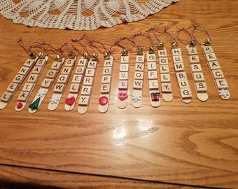 Scrabble Tile Ornaments