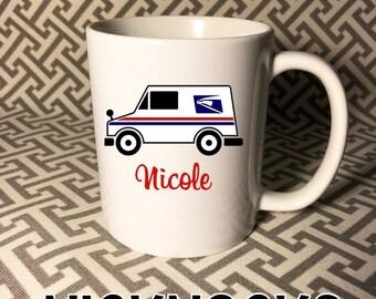 Mail Truck Mug, Mail Carrier Mug, Post Office Mug 11 oz