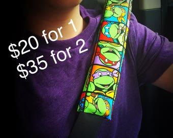 Free Shipping TMNT Teenage Mutant Ninja TurtlesHead Rest Wrap and Seat Belt Cover