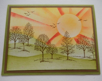 Trees in the Sunshine Card